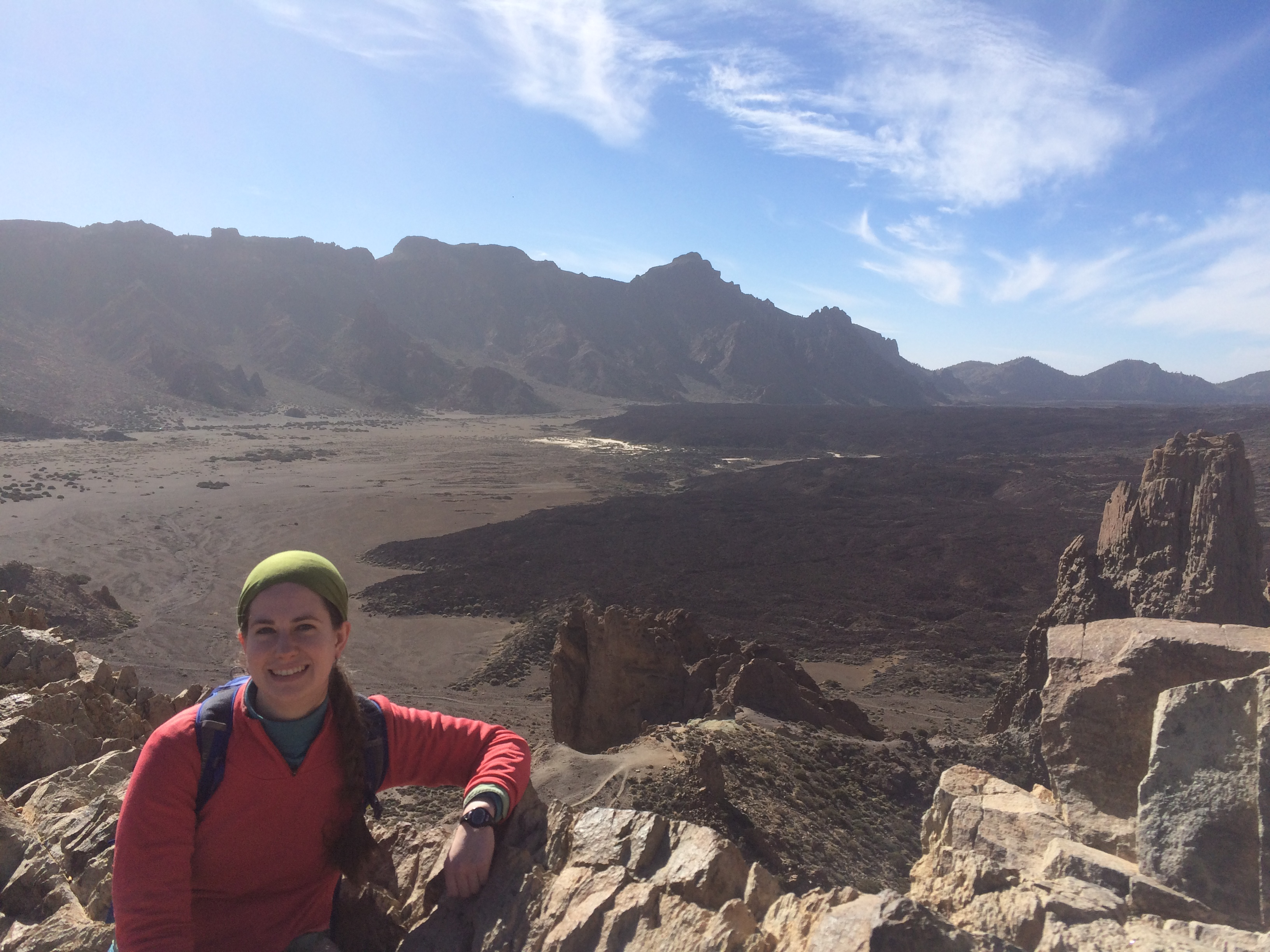 Patricia at Teide Volcano