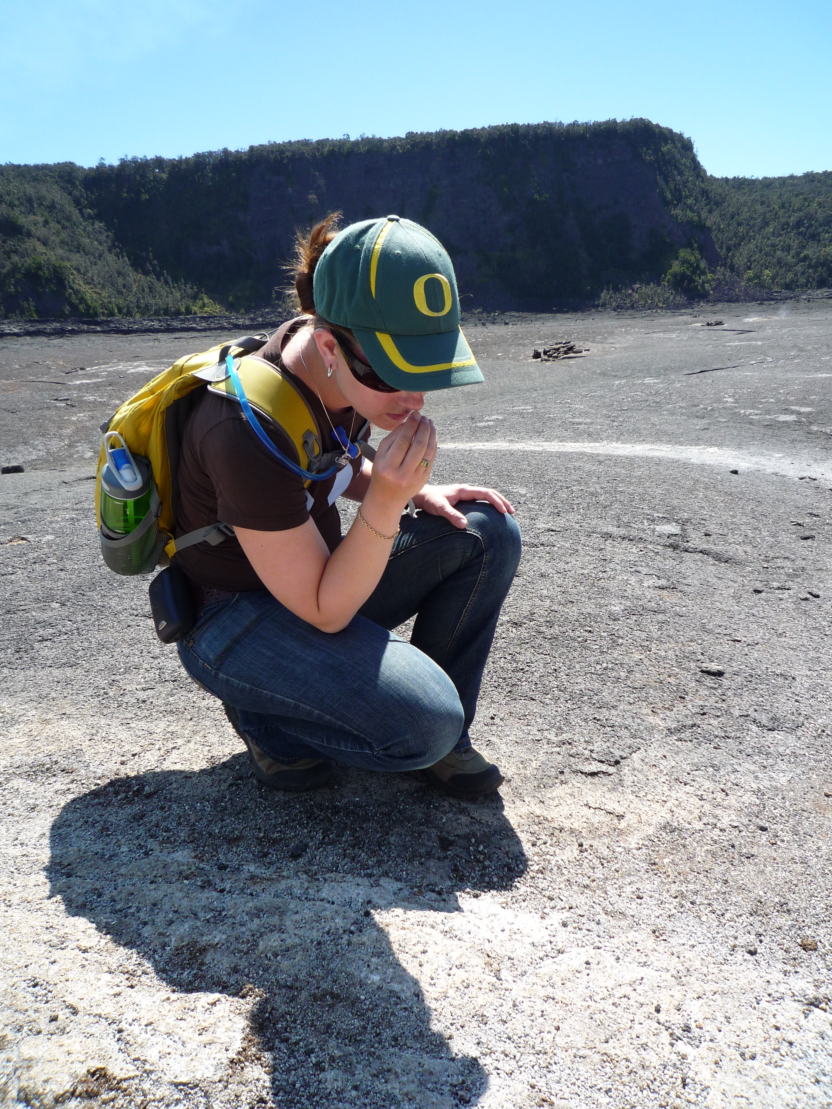 Patricia at Kilauea Iki